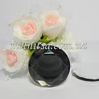 Клеевой декор круглый с гранями, 2,5 см, цвет серый дымчатый, 1 шт.