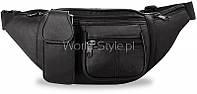 10-20 Черная мужская сумка на пояс Mauzja