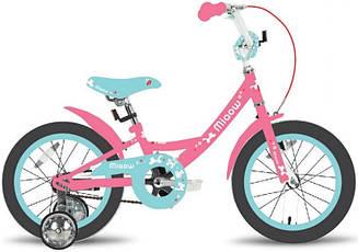 """Велосипед 16"""" Pride Miaow розовый/мятный"""