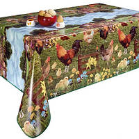 Скатерть клеенка на детский стол с петушками НОВИНКА!