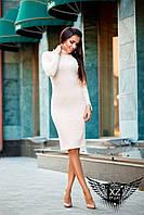 Облегающее платье с воротником малиновое, бежевое, коралловое