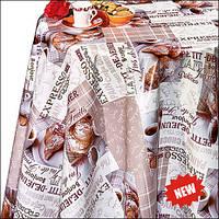 Скатерть-клеёнка на флизелиновой основе с круасанами Новинка