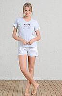 Комплект женский домашний из футболки и шорт VIENETTA