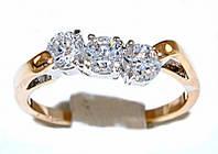 Кольцо фирмы Xuping.Цвет: позолота+родий.  Камни: белый циркон . Есть  16 р. 17 р.