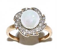 Кольцо фирмы Xuping.Цвет: позолота+родий.  Камни: белый циркон и жемчуг. Есть  15 р. 16 р.