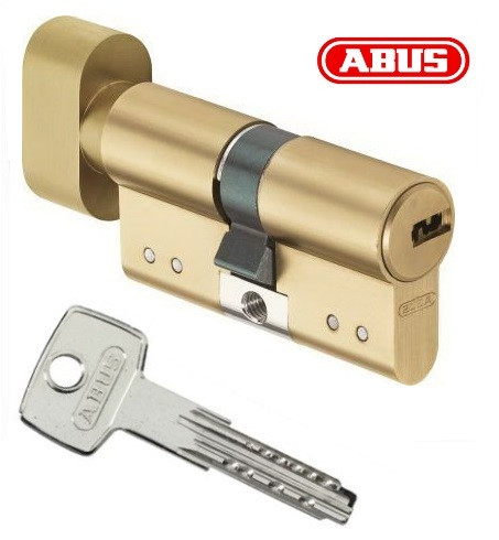 Цилиндр Abus KD15 60мм. (30х30Т) ключ-поворотник латунь