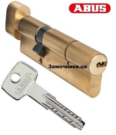 Цилиндр Abus KD6 90мм. (50х40Т) ключ-поворотник латунь