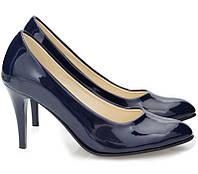 05-19 Темно-синие женские туфли на шпильке модель Julie Navy