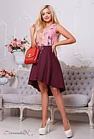 Молодежная юбка 2125 марсала Seventeen 42-46 размеры