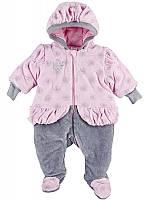 Комплект для новорожденных ТМ Ля-Ля, велюр (артикул 8Т0103)