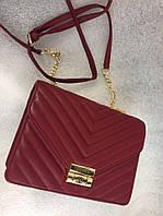 Женская сумка реплика CHANEL размеры 25*20 см, материал эко кожа. Бордовый цвет. Люкс качество