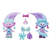 Игровой набор Тролли Модные близнецы Сатинка и Синелька 23см DreamWorks Trolls Satin and Chenille's, фото 1