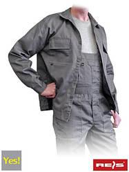 Куртка рабочая серая REIS Польша (роба униформа спецодежда) YES-J S