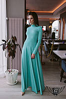 Платье в пол максис открытой спинкой ментоловое  Широкая цветовая палитра