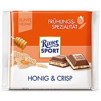 Шоколад Ritter Sport Honig & Crisp С медовыми вафлями 100г