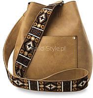 05-19 Светло-коричневая женская сумочка стильный мешок модель Dzhordzhija