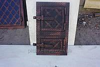 """Двери в печь прямые спарка(20*40)металл ковка """"батон"""""""