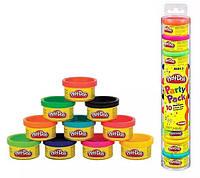 Hasbro  Набор пластилина для праздника из 10 мини-баночек в тубусе, Play-Dox