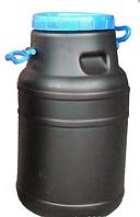 Бидон 40 л непищевой (черный)
