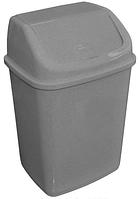 Ведро для мусора 10л с крышкой, Алеана