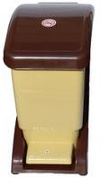 Ведро для мусора педалью 12 литров коричневое