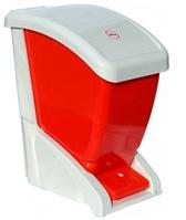 Ведро для мусора педалью 12 литров красное