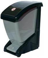 Ведро для мусора педалью 12 литров черно-серый