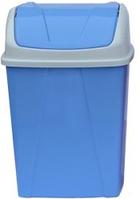 Ведро для мусора с поворотной крышкой 8,25 л голубое