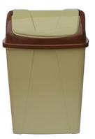 Ведро для мусора с поворотной крышкой 8,25 л кремовое