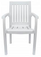 Кресло пластиковое Базилик белое