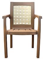 Кресло пластиковое Хризантема бежевое