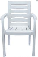 Кресло, стул пластиковое Жимолость белое