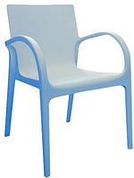Стул пластиковый Гектор голубой