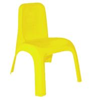 Стул детский пластиковый желтый