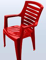 Стул пластиковый Рекс красный