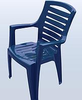 Стул пластиковый Рекс синий