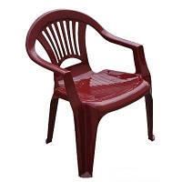 """Стул-кресло пластиковый """"Луч"""" вишневый"""