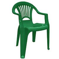 """Стул-кресло пластиковый """"Луч"""" зеленый"""
