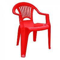 """Стул-кресло пластиковый """"Луч"""" красный"""
