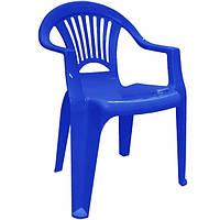 """Стул-кресло пластиковый """"Луч"""" синий"""