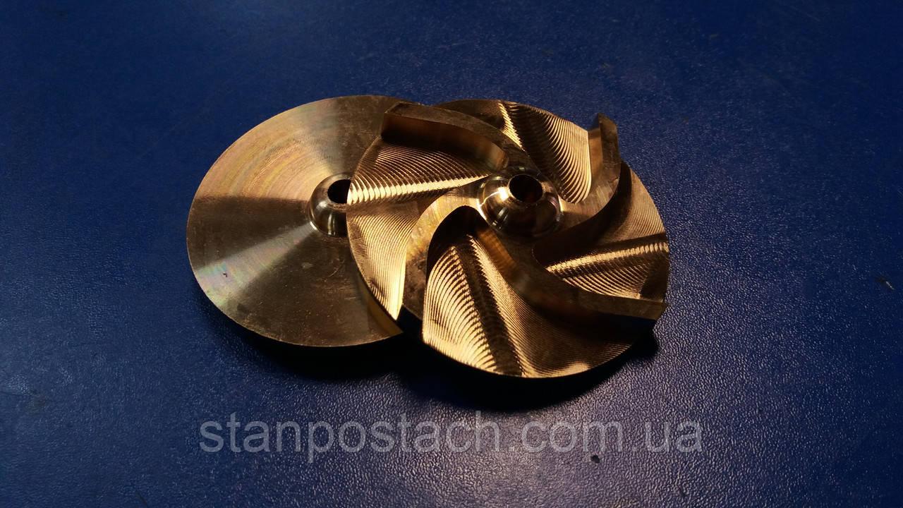 Крыльчатка из бронзы, латуни, стали, капролона