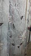 Тюль  органза с  рисунком