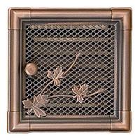 Вентиляционная решетка для камина Parkanex, Retro медная патина 16х16 с жалюзи
