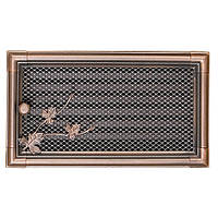 Вентиляционная решетка для камина Parkanex, Retro медная патина 16х32 с жалюзи