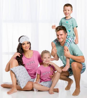 Семейные комплекты пижам