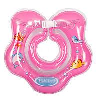 Круг для купания на шею Lindo LN-1559, розовый