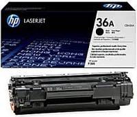 Заправка чёрного картриджа HP CB436A(36A)