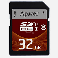 Карта памяти Apacer 32 GB SDHC Class 10 UHS-I AP32GSDHC10U1-R