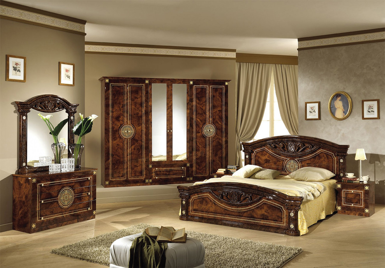 Спальня Мебель-Сервис Рома цвет корень, модульный комплект на 6 единиц, фото 1