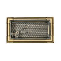 Вентиляционная решетка для камина Parkanex, Retro золотая патина